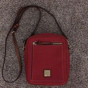 Dooney & Bourke red pebbled leather crossbody